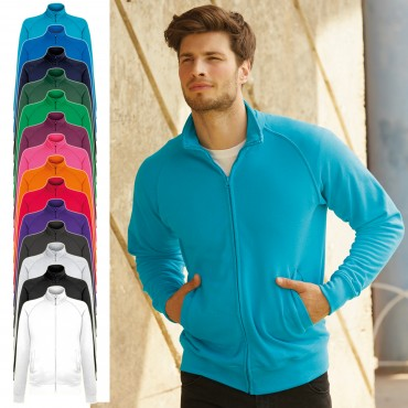 Fruit of the Loom: Lightweight Sweat Jacket 62-160-0