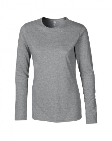Gildan: Ladies` Softstyle T-Shirt LS 64400L – Bild 4