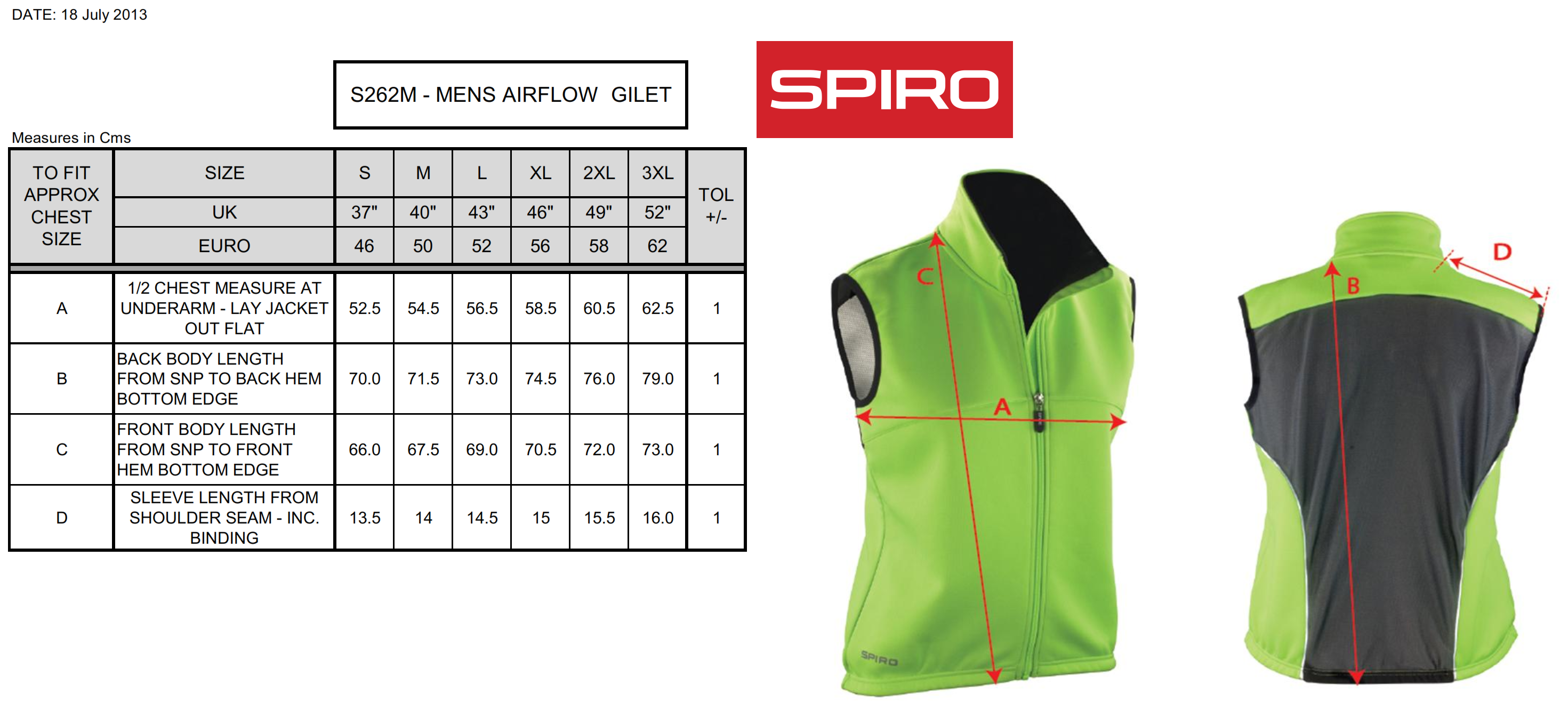 Result: Spiro Airflow Gilet S262M