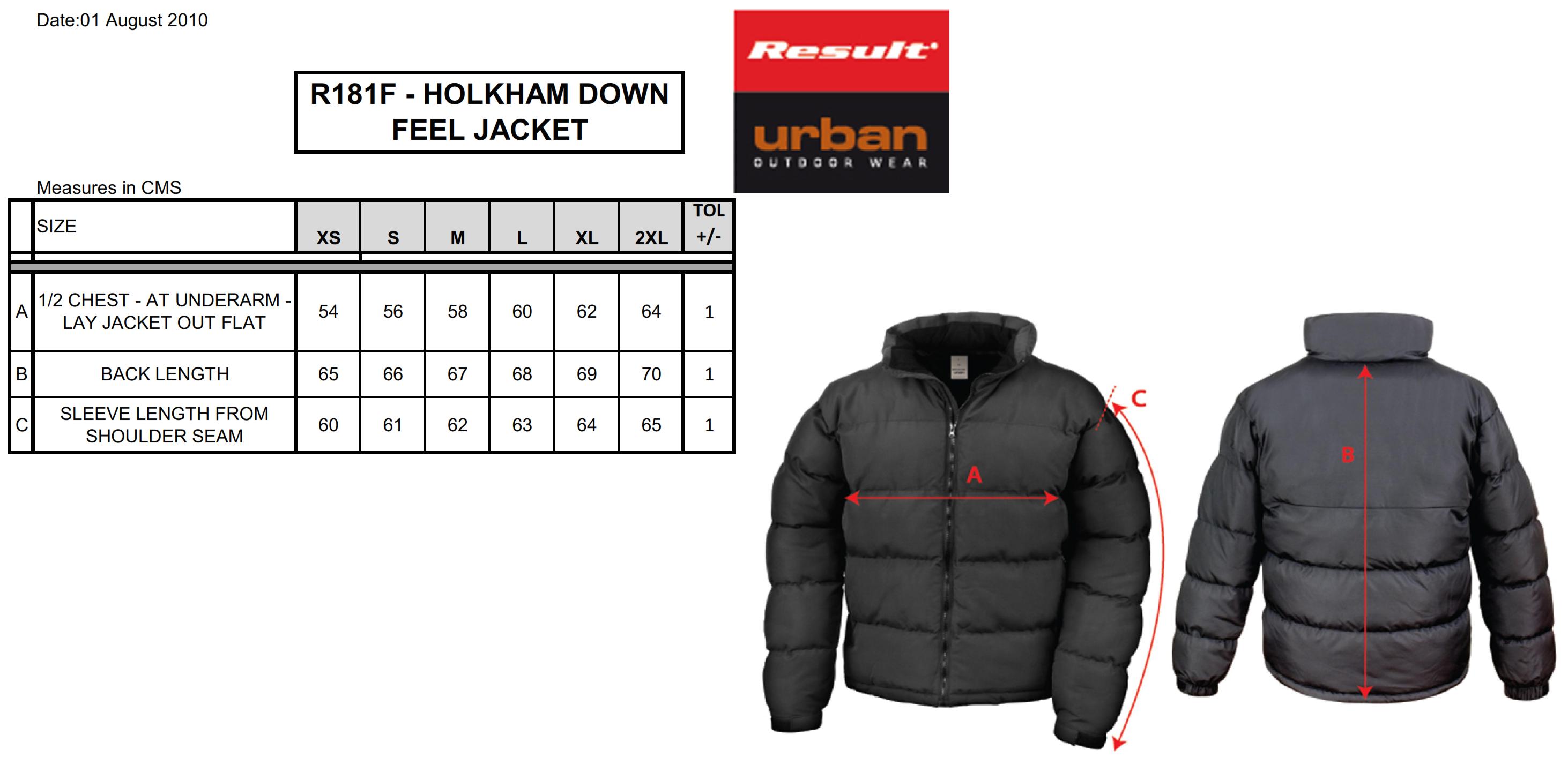 Result: Ladies` Holkam Down Feel Jacket R181F