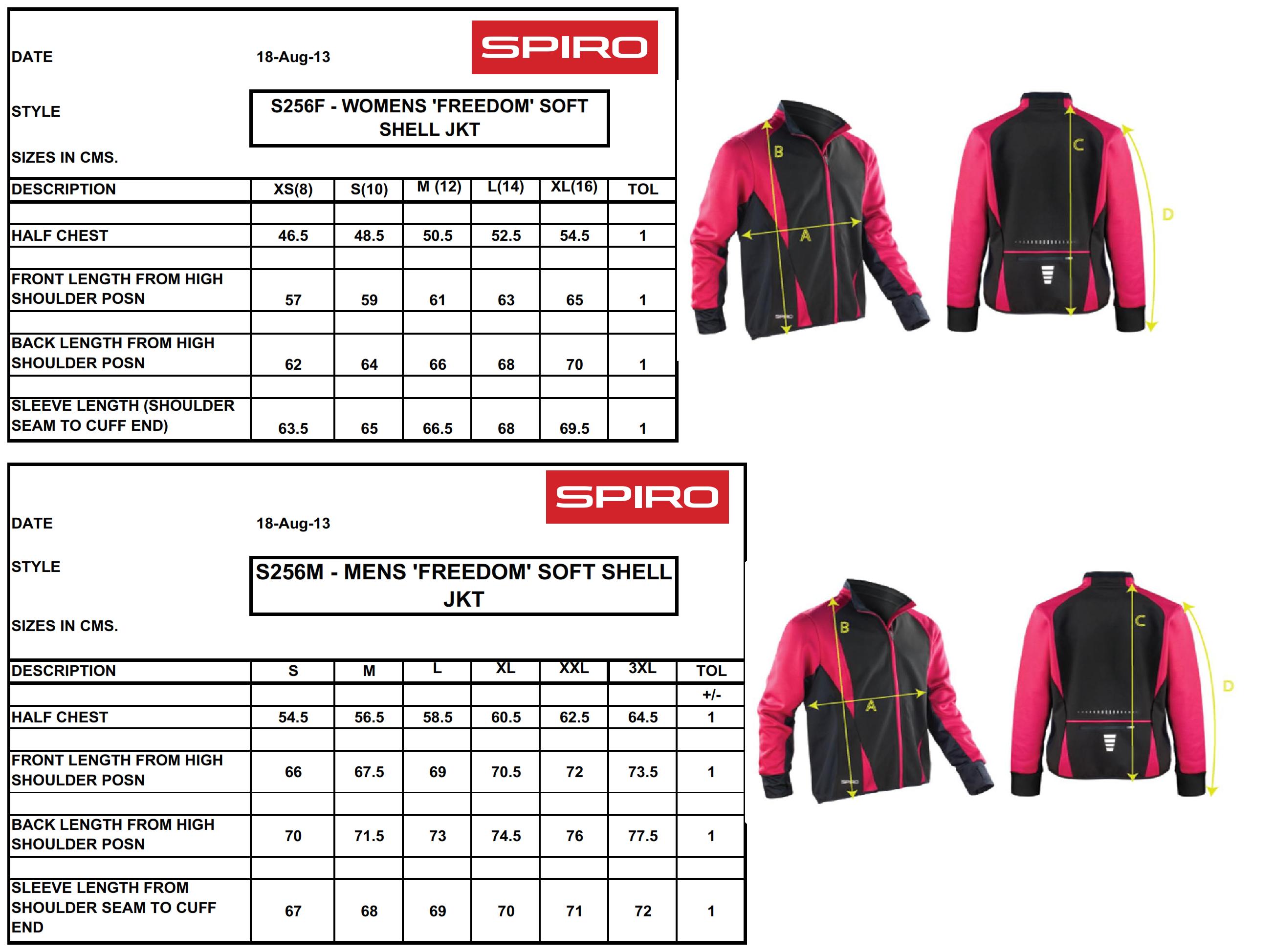 Result: Spiro Freedom Softshell Jacket S256M