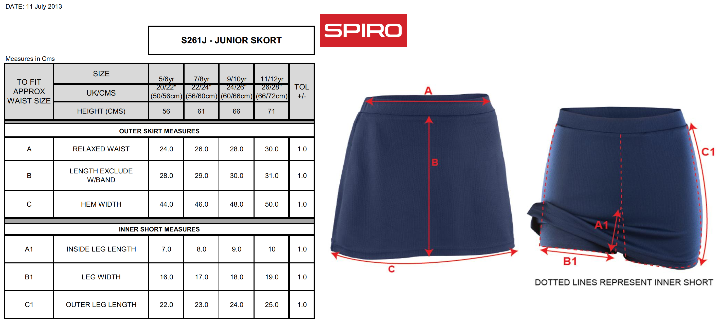 Result: Spiro Junior Skort S261J