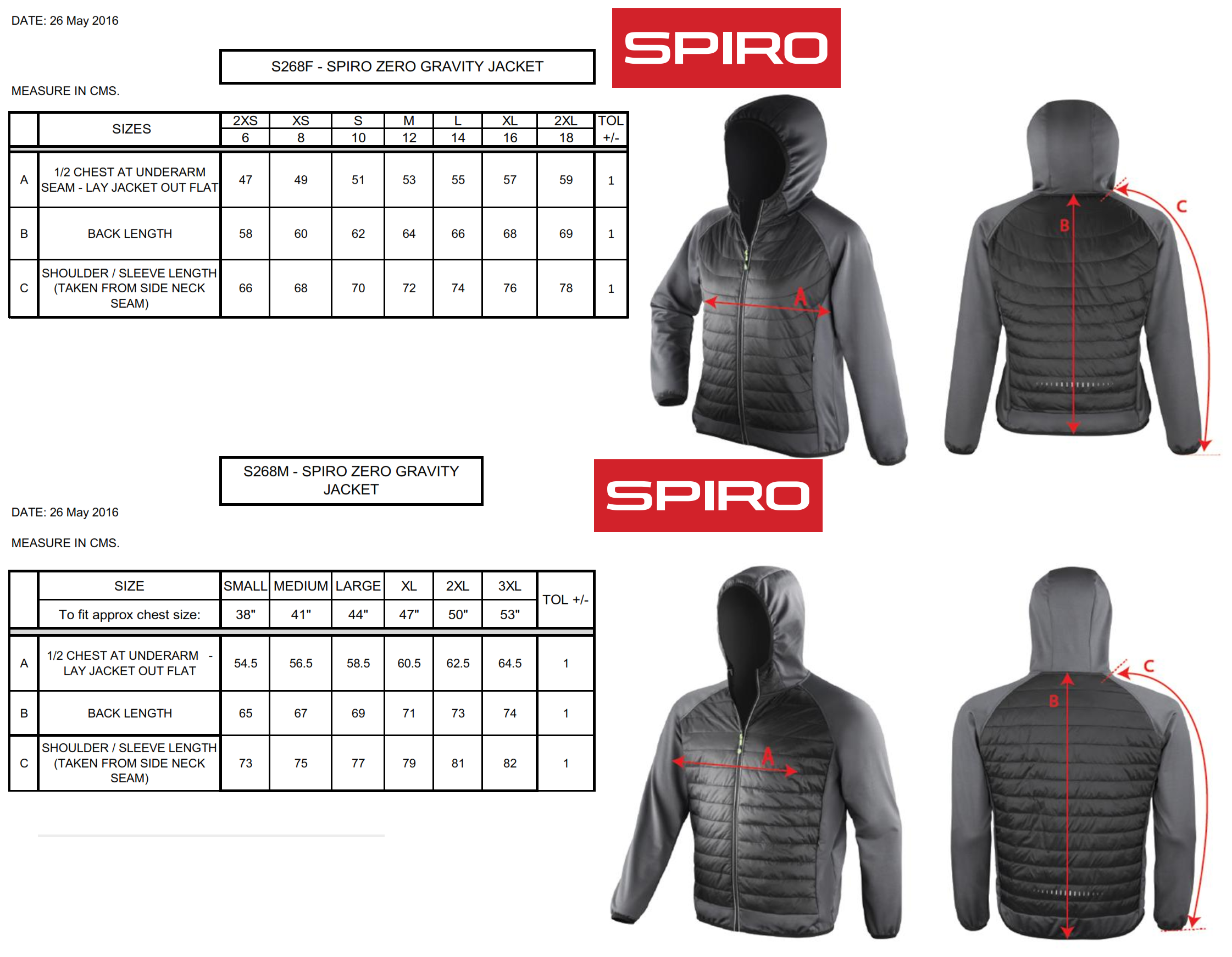 Result: Women`s Zero Gravity Jacket  S268F