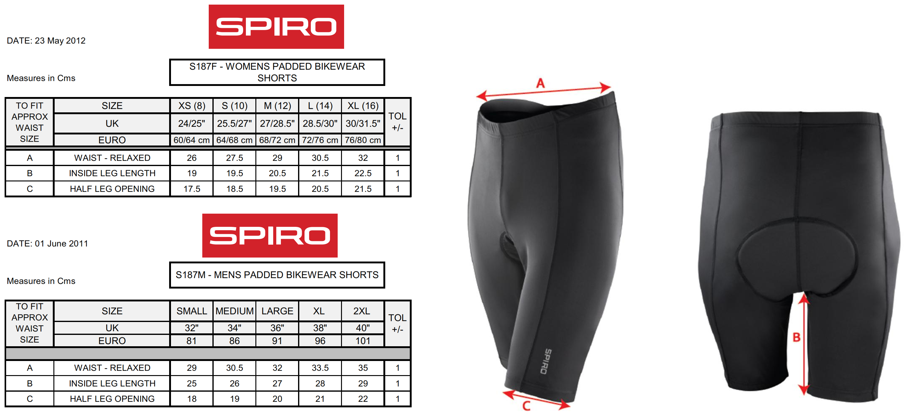 Result: Ladies` Padded Bike Shorts S187F