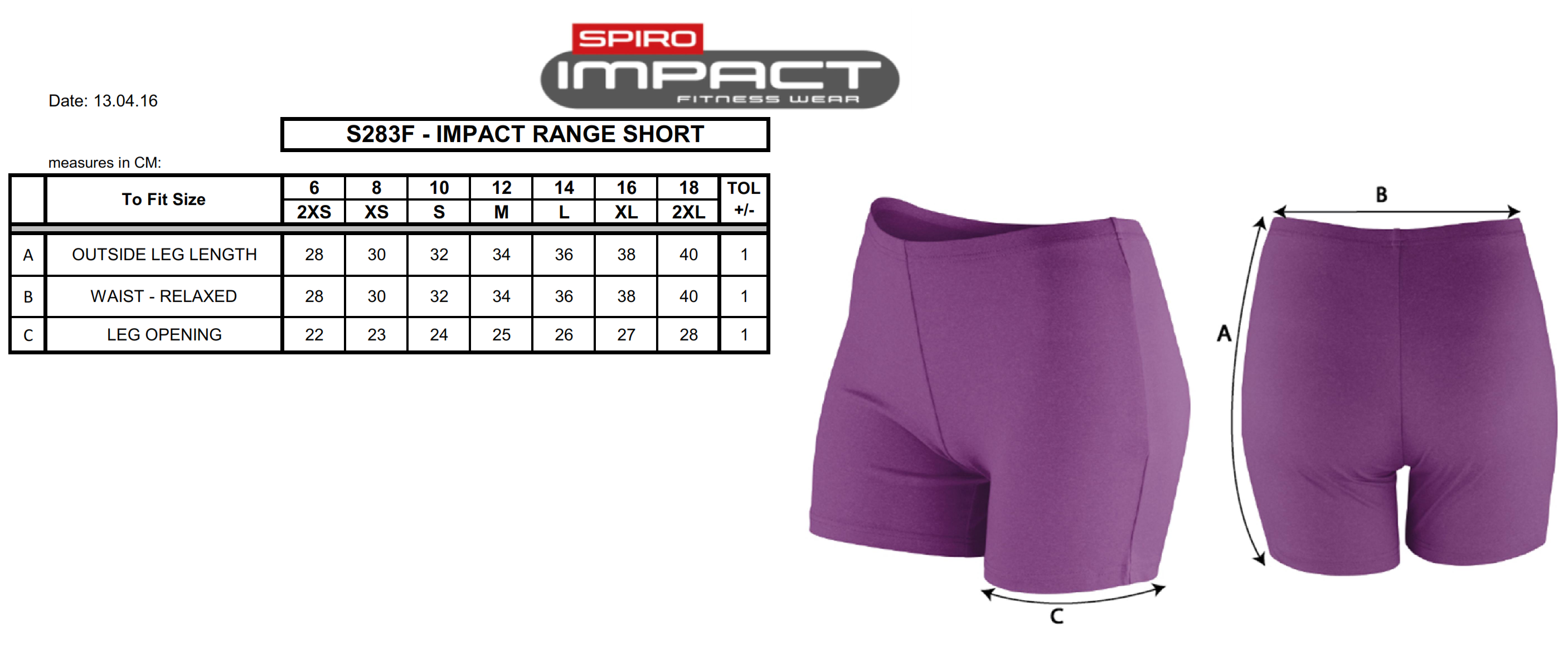 Result: Women`s Impact Softex Shorts S283F
