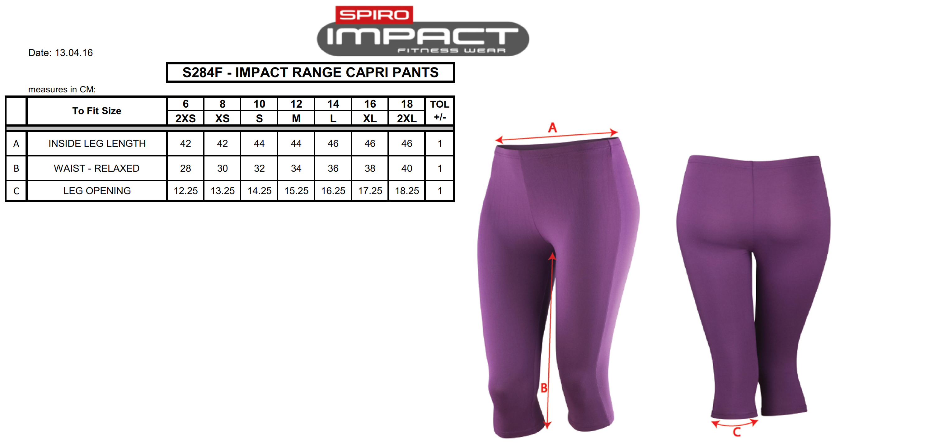 Result: Women`s Impact Softex Capri Pants S284F