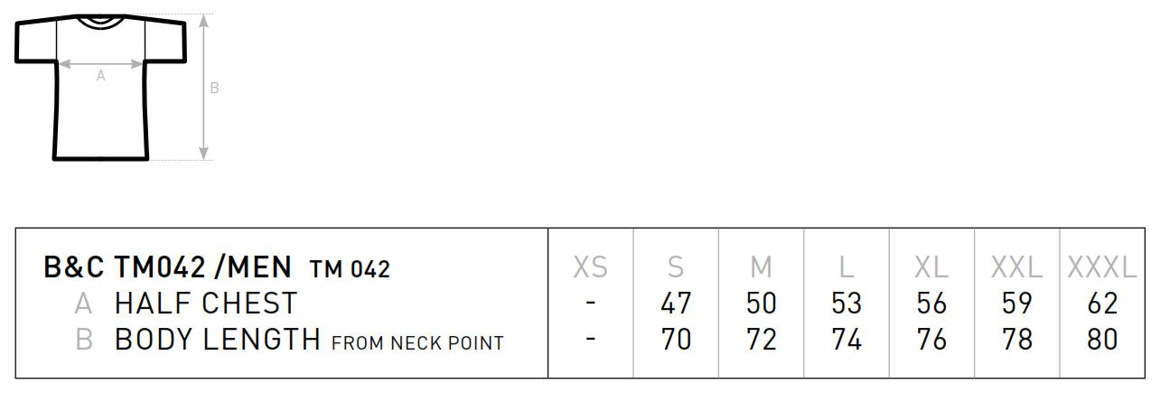 B&C: Men T-Shirt - Single Jersey TM042