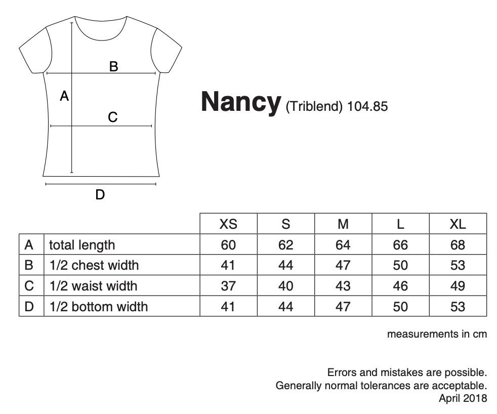 nakedshirt: Nancy Triblend Women`s Favourite T-Shirt TF-SSL-R-TB111