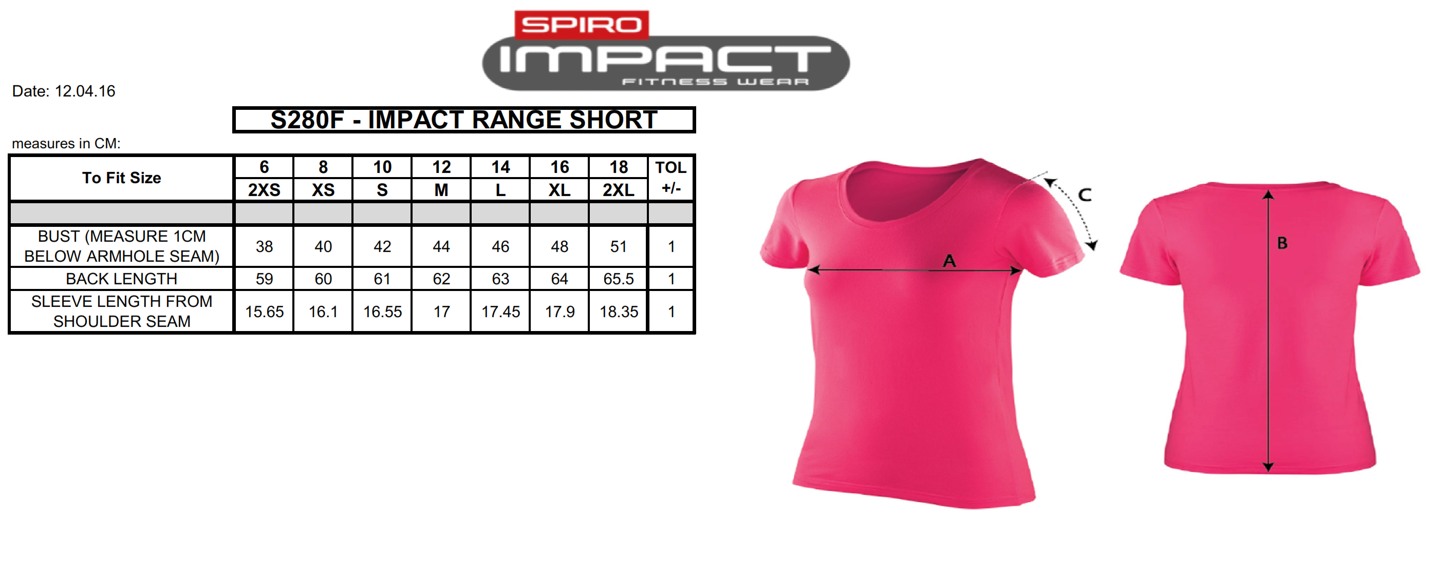 Result: Women`s Impact Softex T-Shirt S280F