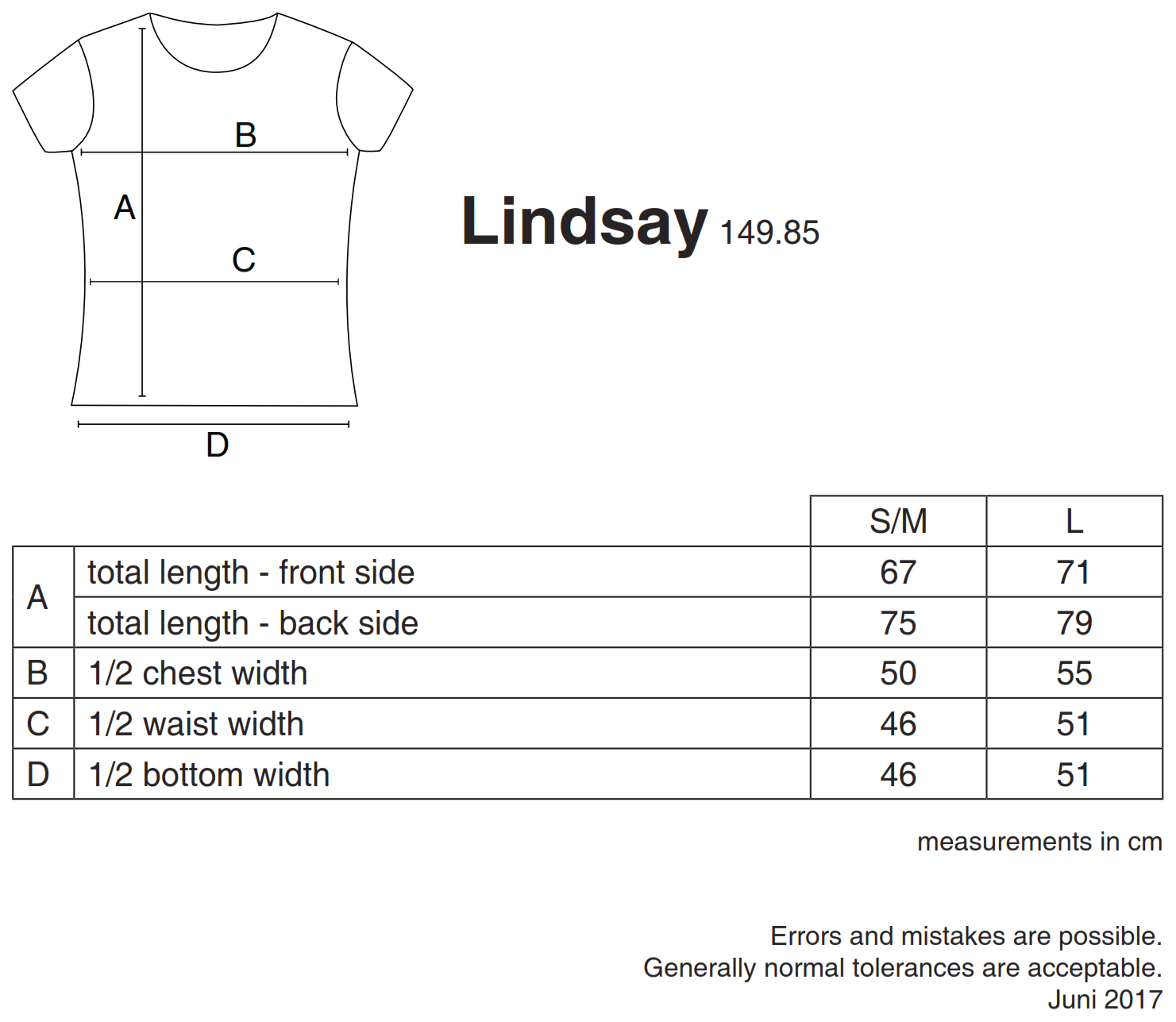 nakedshirt: Lindsay Women`s Loose Fashion T-Shirt TF-RL-O-BL127