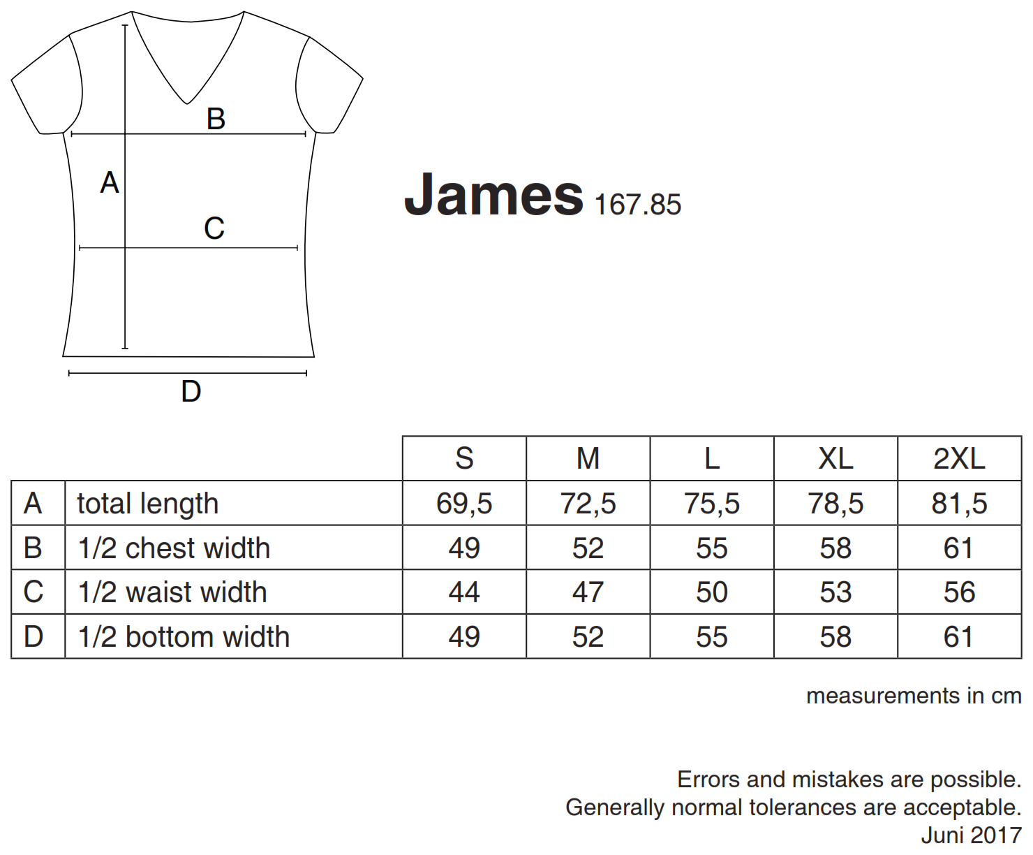 nakedshirt: James Men`s Organic V-Neck T-Shirt TM-SSL-V-OG018