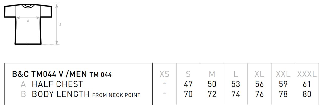 B&C: V-Neck T-Shirt Men TM044