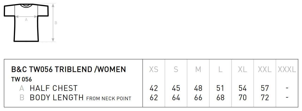 B&C: Triblend T-Shirt Women TW056