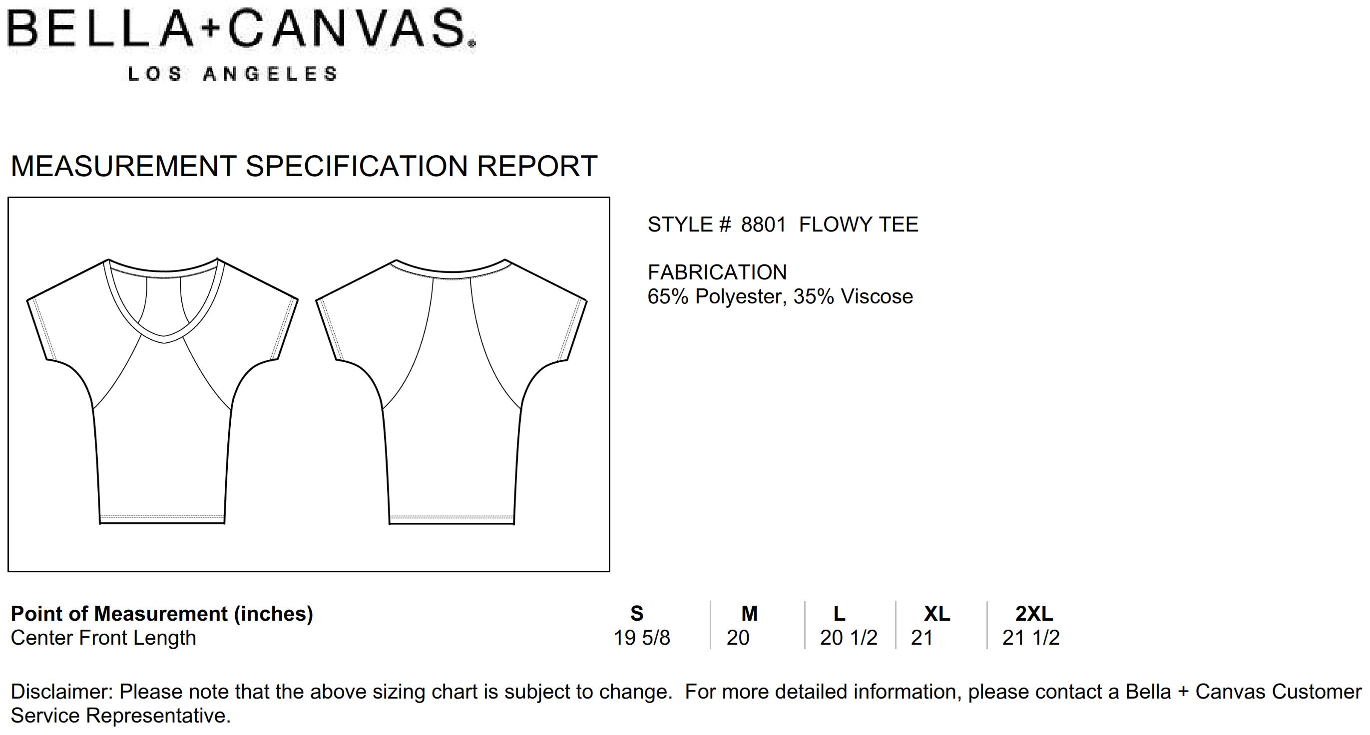 Bella+Canvas: Flowy Raglan T-Shirt 8801
