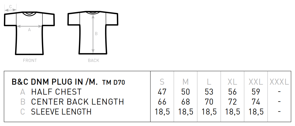 B&C: Ultimate Look T-Shirt DNM Plug In Men TMD70