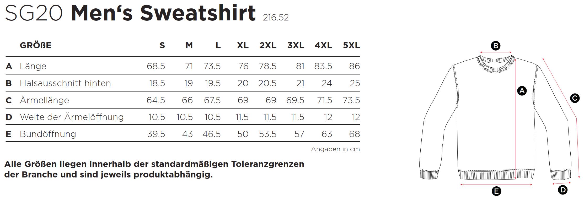 SG: Sweatshirt SG20