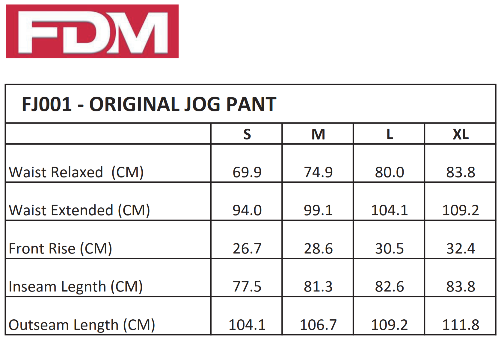 FDM: Original Jog Pants FJ001