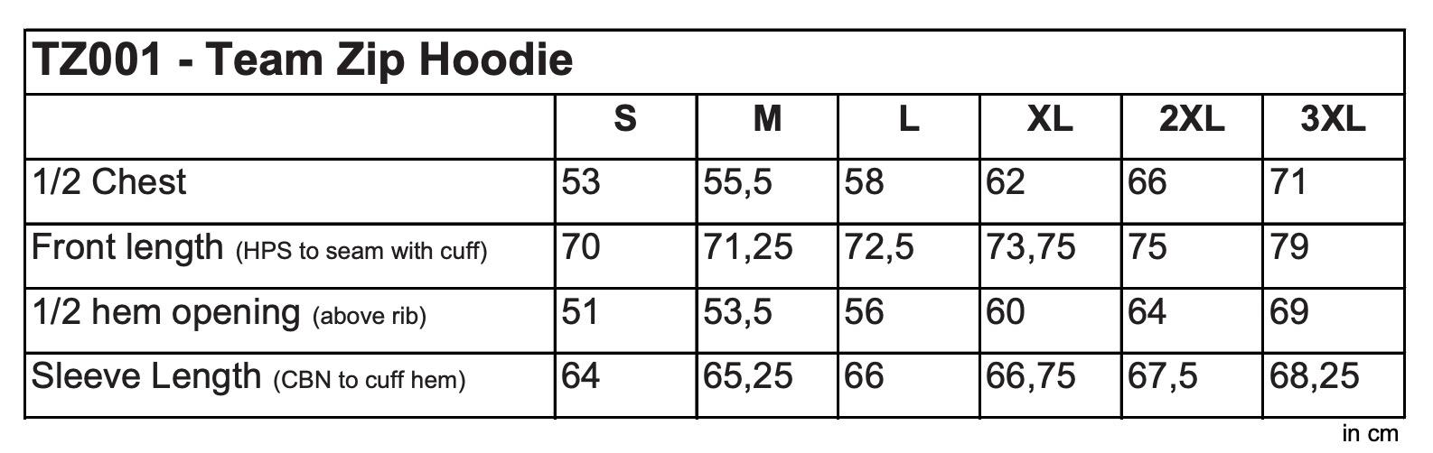 FDM: Team Zip Hoodie TZ001