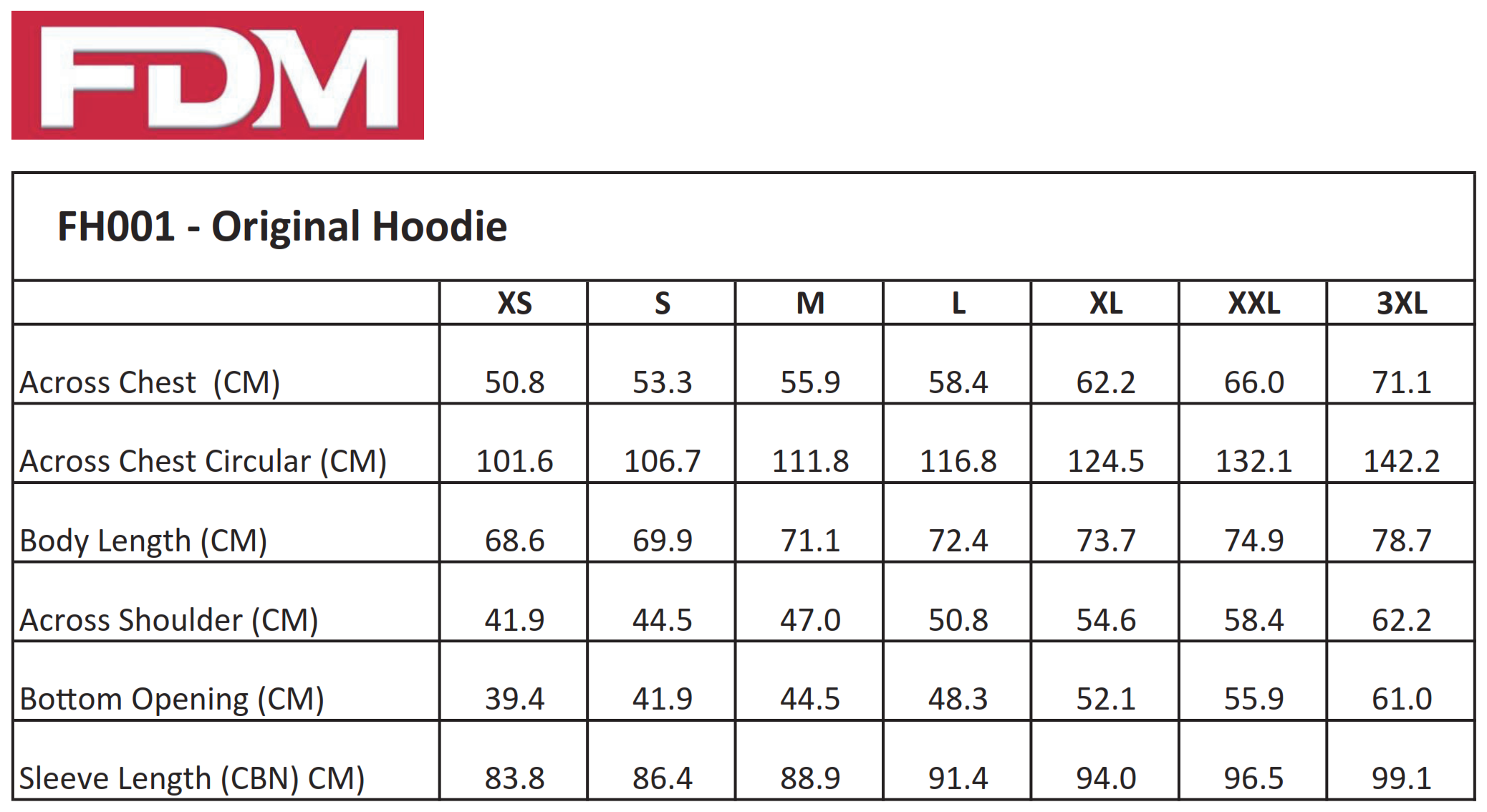 FDM: Original Hoodie FH001