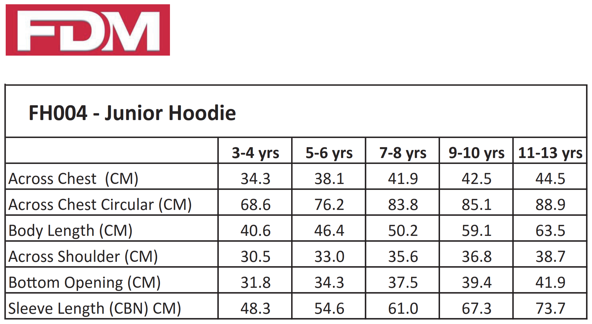 FDM: Junior Hoodie FH004
