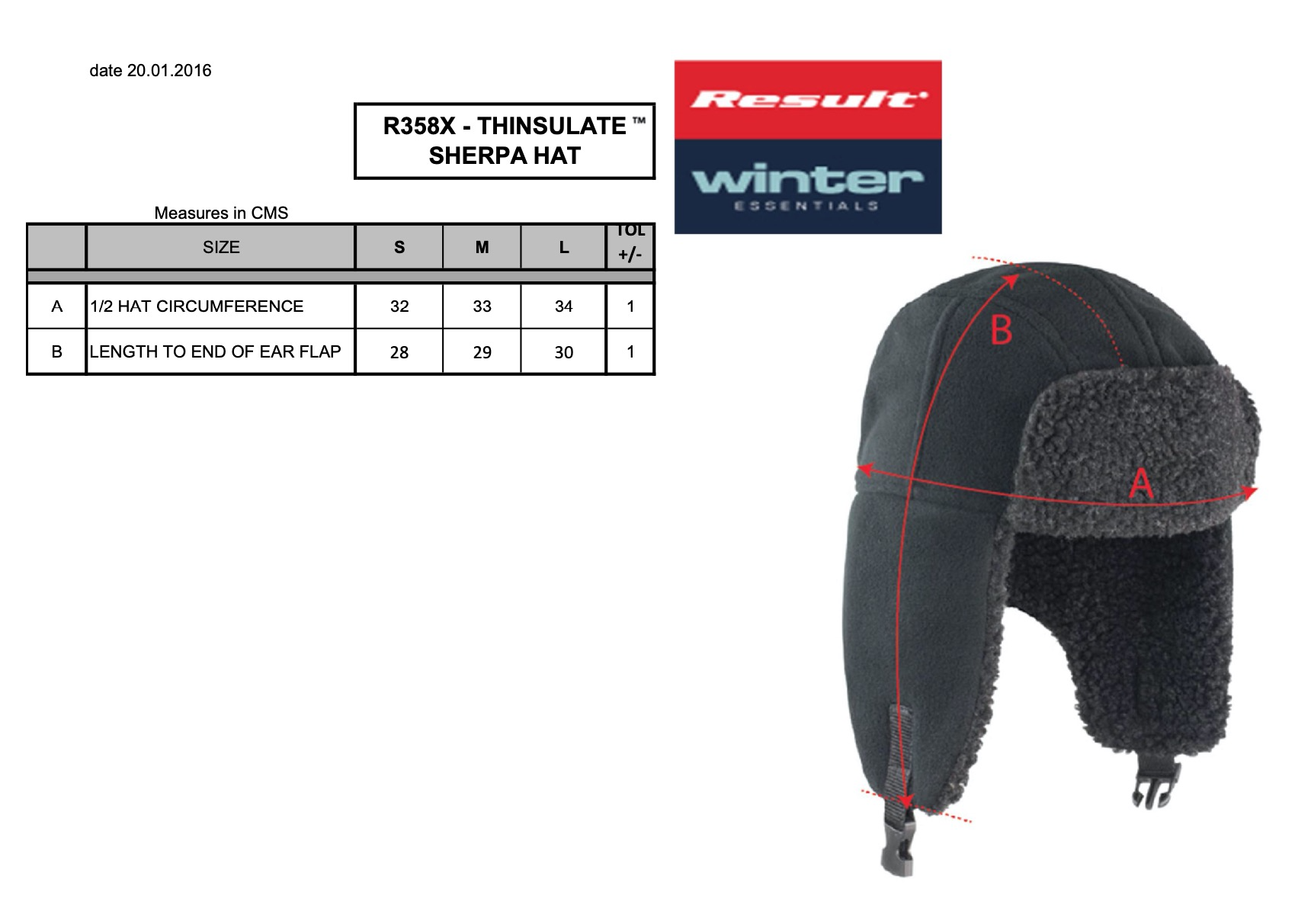 Result: Thinsulate Sherpa Hat R358X