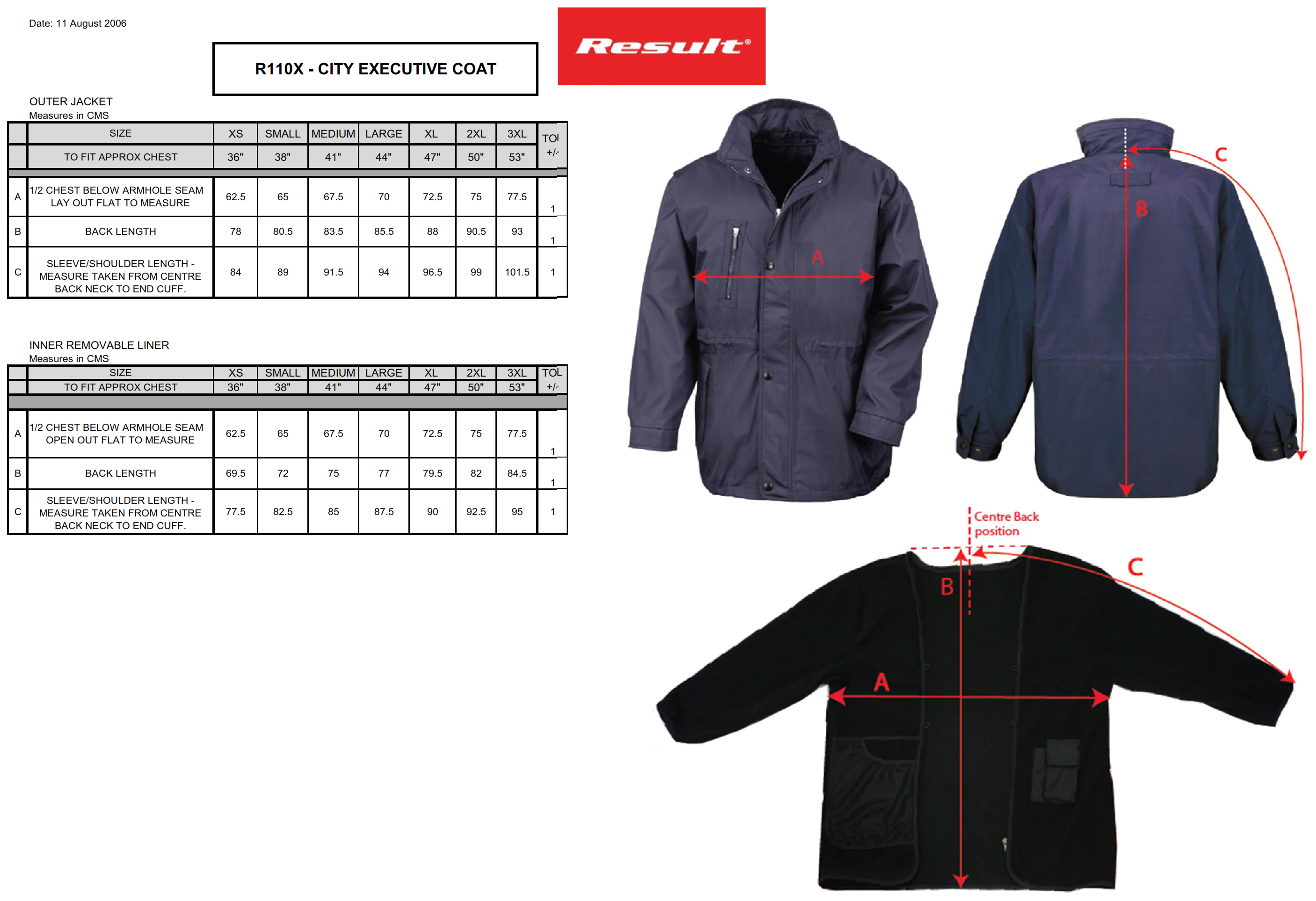 Result: City Executive Jacket R110X