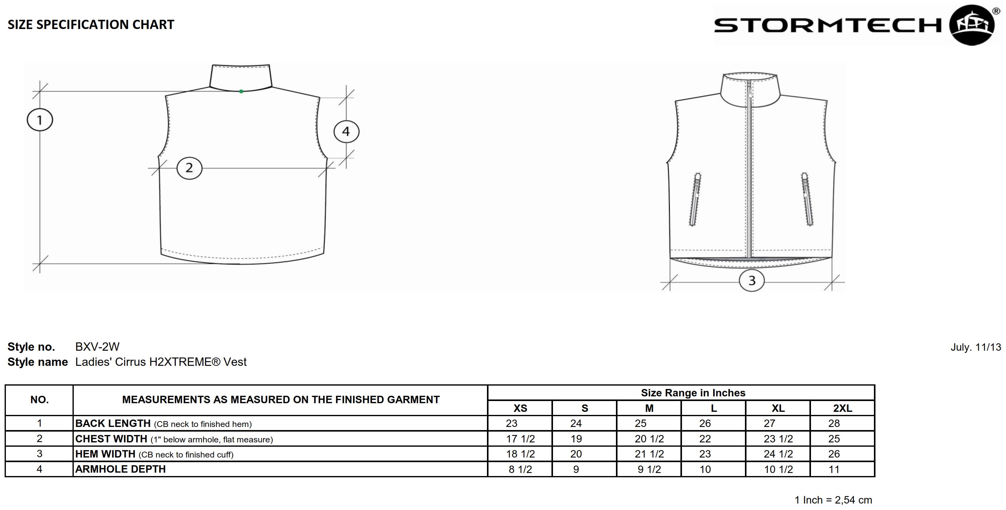 StormTech: Ladies` Cirrus H2XTREME Vest BXV-2W