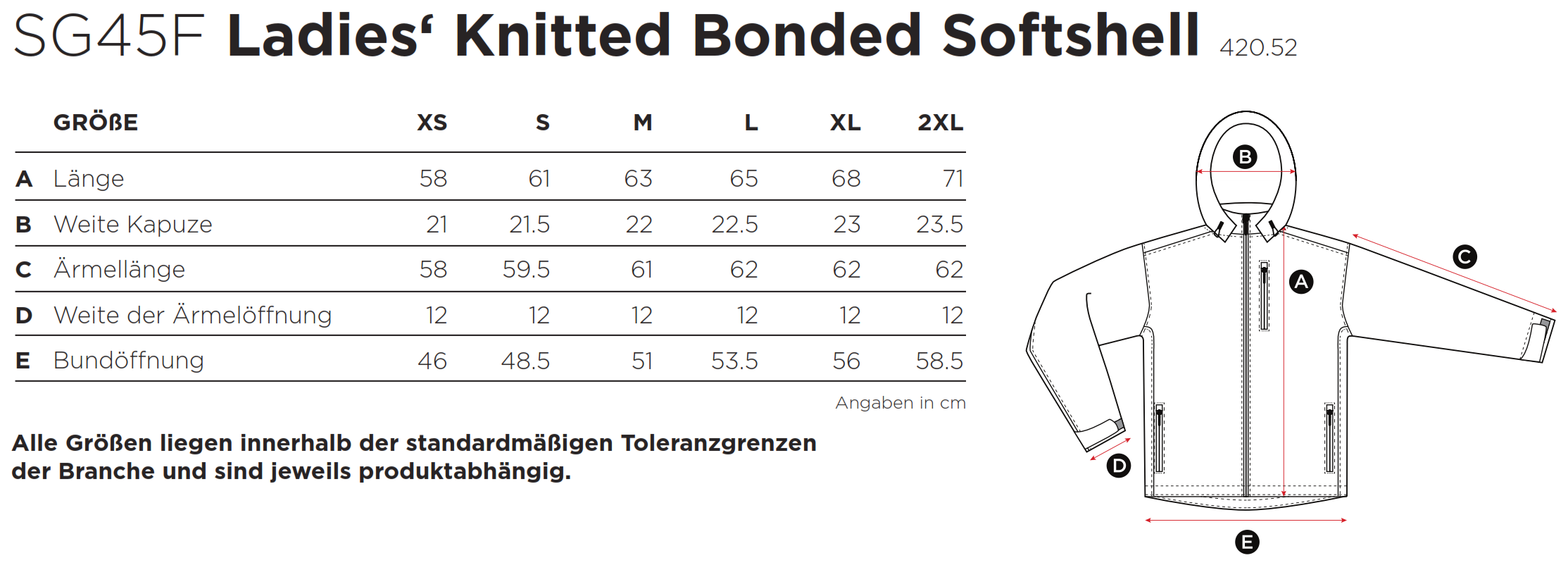 SG: Ladies Knitted Bonded Softshell SG45F