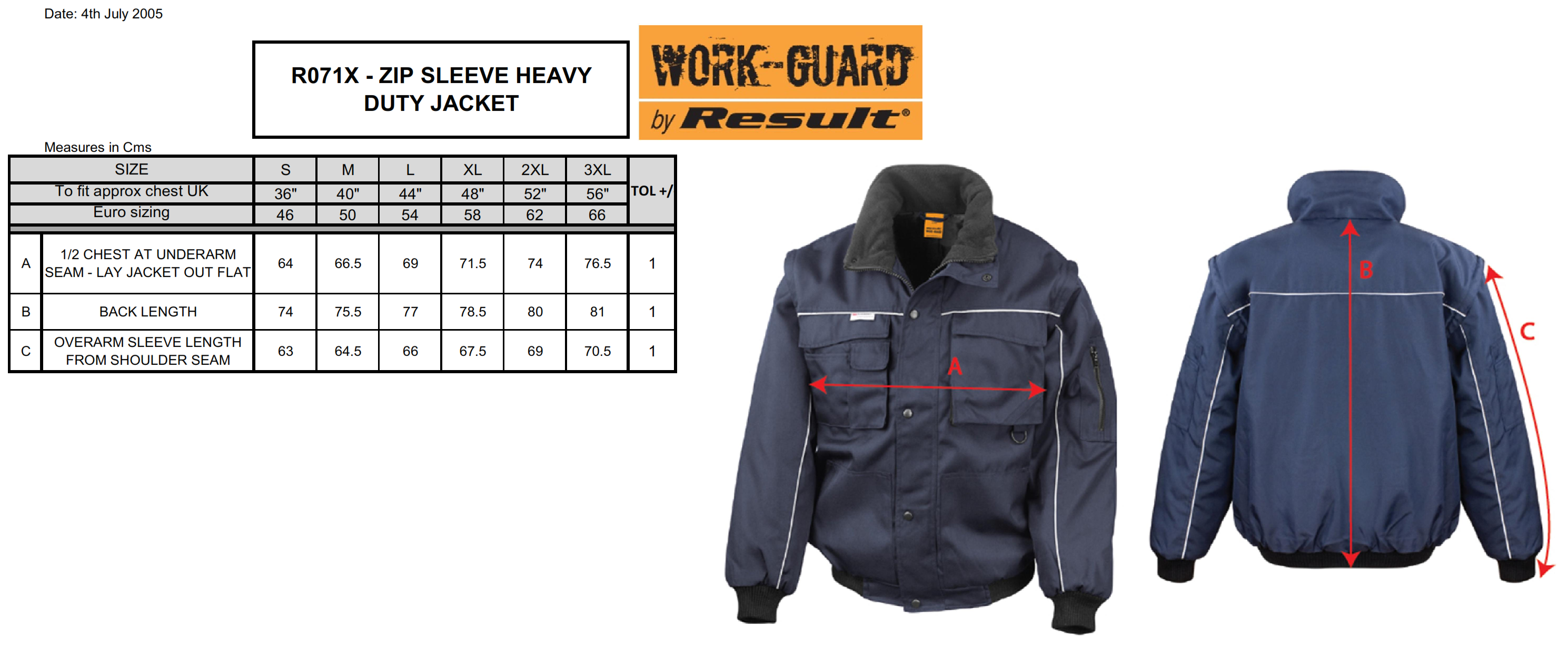 Result: Heavy Duty Jacket R071X