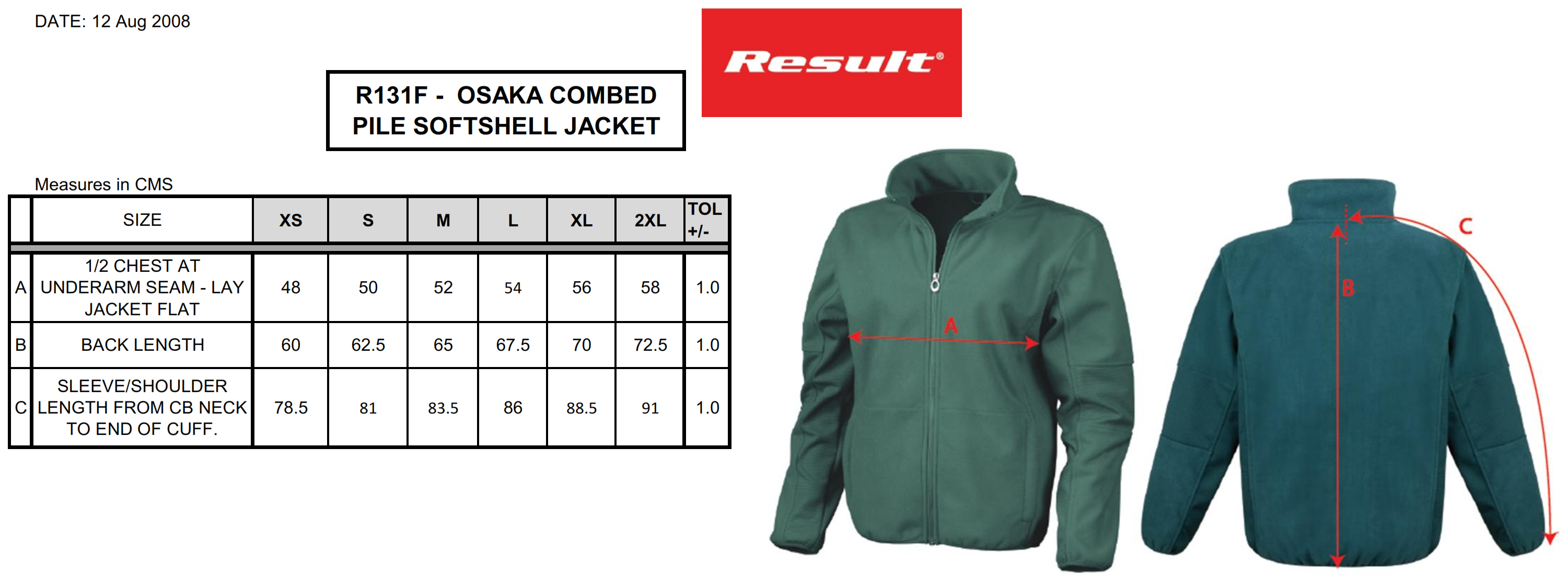 Result: Ladies` Osaka Fleece Soft Shell  R131F