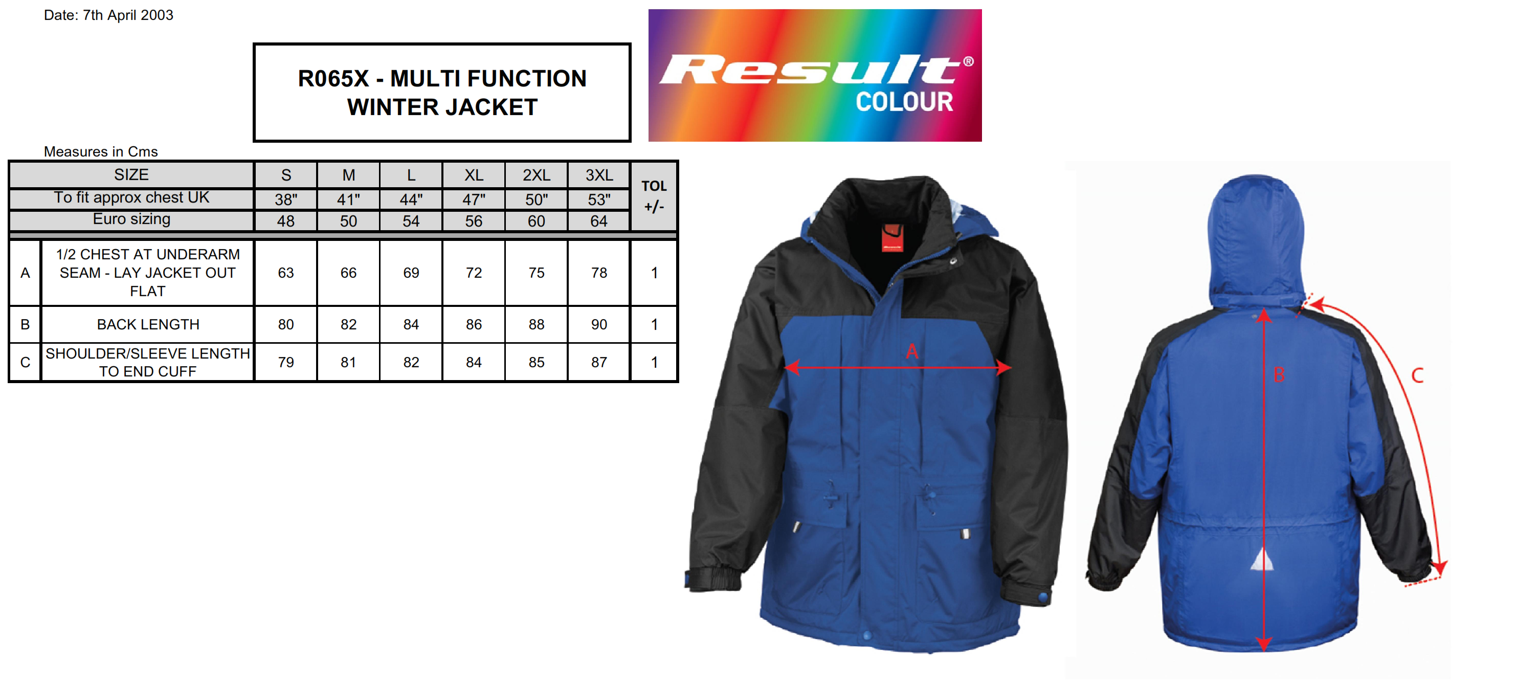 Result: Multifunktions-Winterjacke R065X