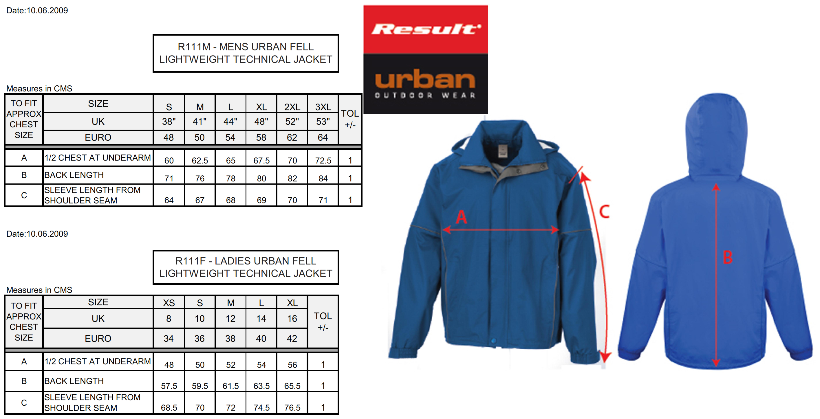 Result: Ladies` Urban Fell Lightweight Jacket R111F