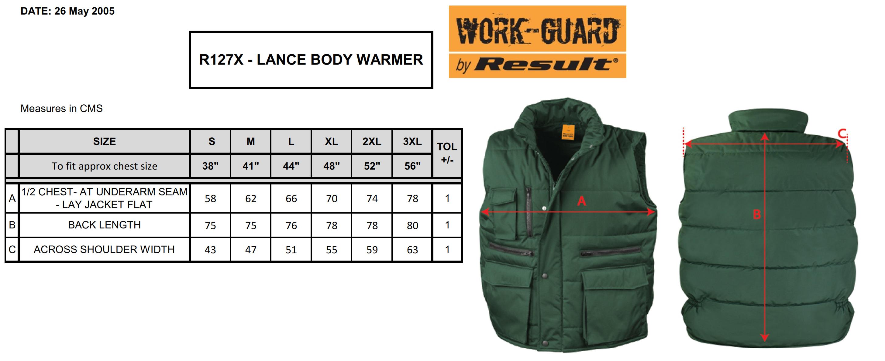 Result: Lance Bodywarmer R127X