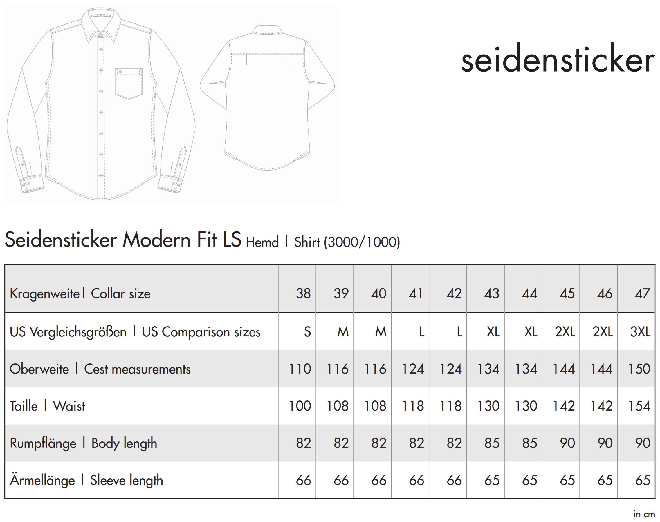 Seidensticker: Regular Fit 1/1 Business Kent 003000/001000