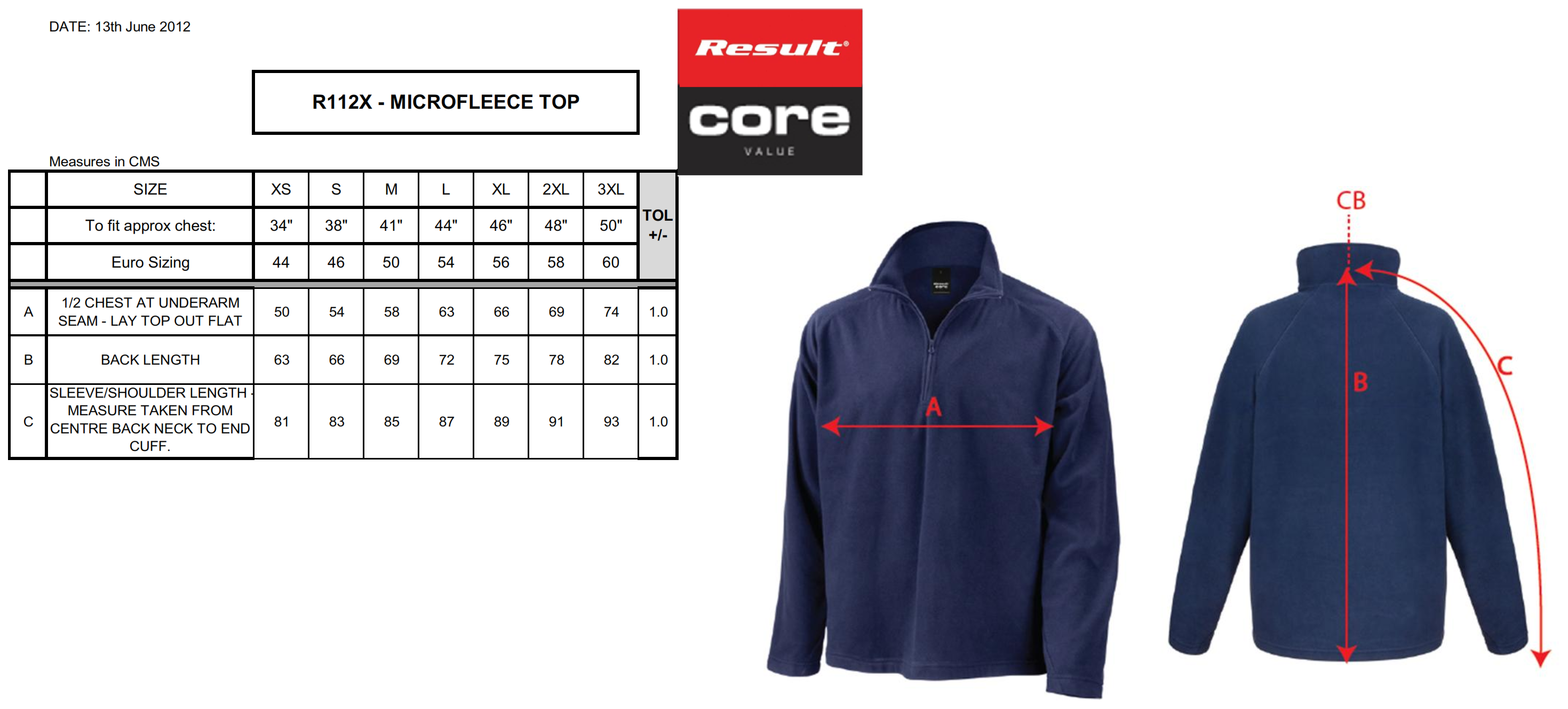 Result: Micron Fleece Mid Layer Top R112X