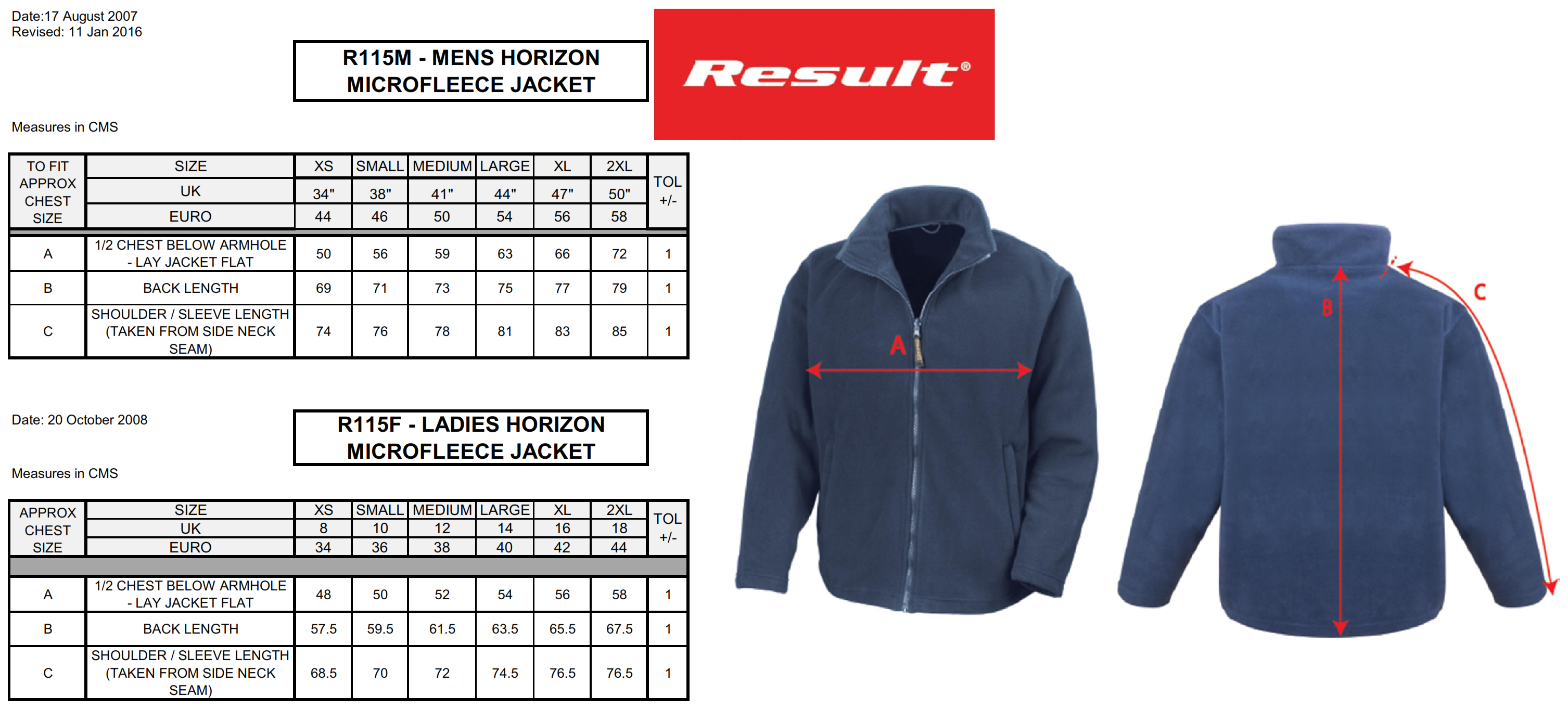 Result: La Femme Micro Fleece R115F