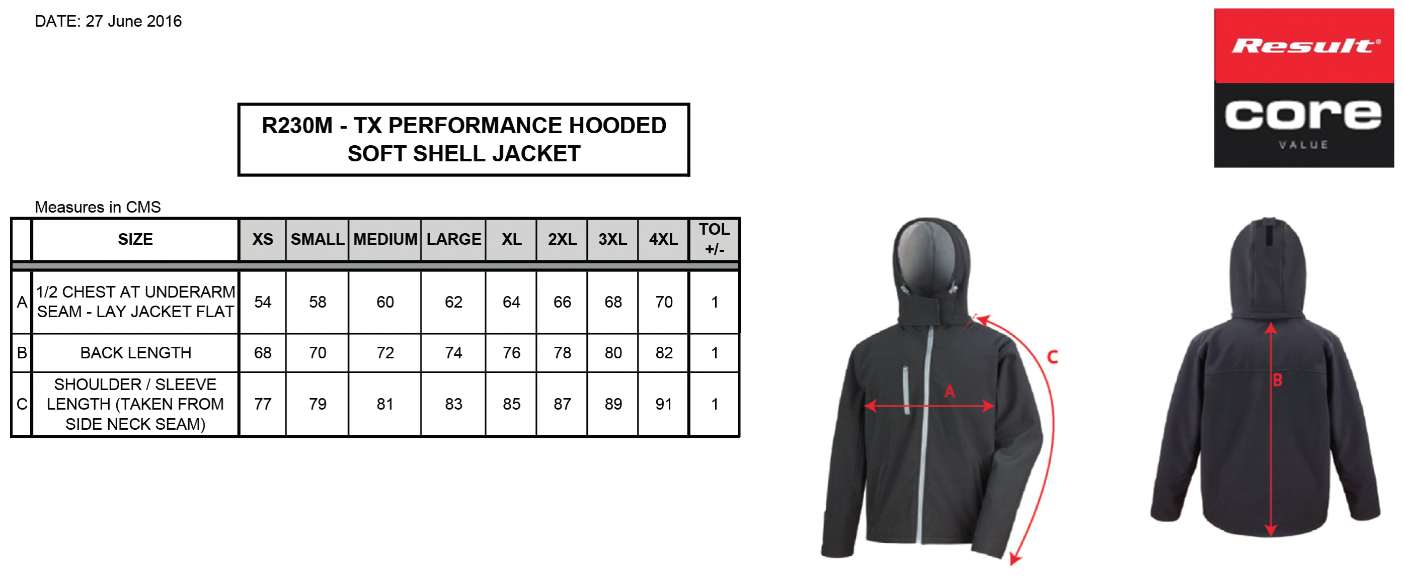 Result: TX Performance Hooded Softshell Jacket R230M