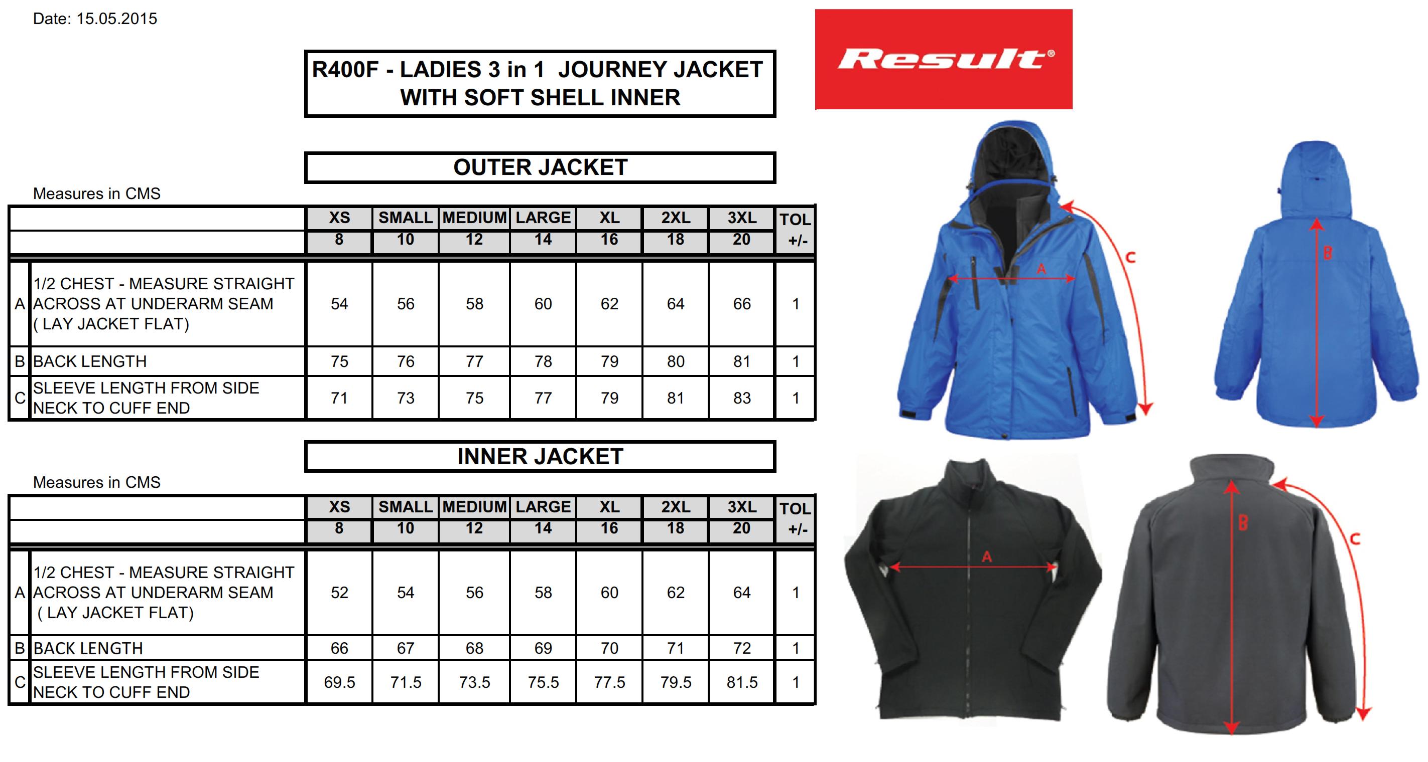 Result: Ladies` 3-in1 Journey Jacket R400F