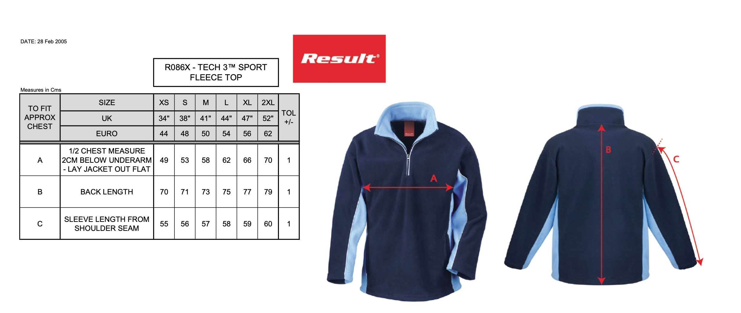 Result: Tech3™ Sport Fleece 1/4 Zip Sweater R086X