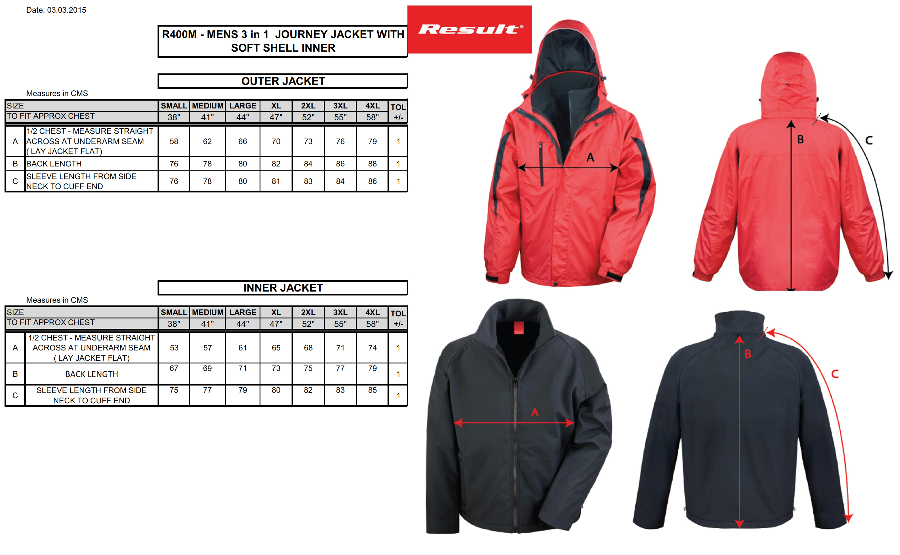 Result: 3-in-1 Journey Jacket R400M