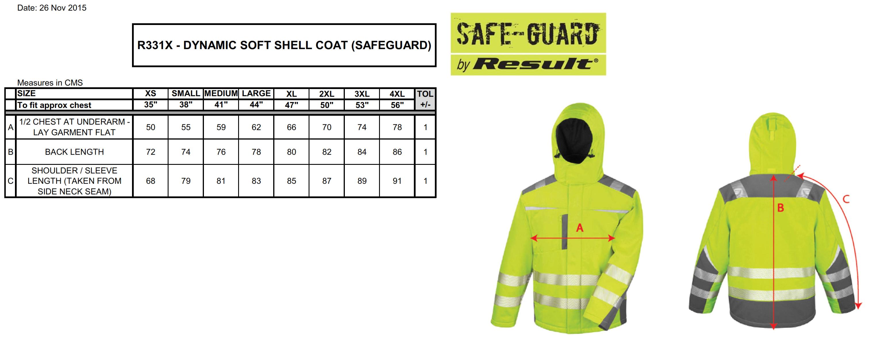 Result: Dynamic SoftShell Coat R331X