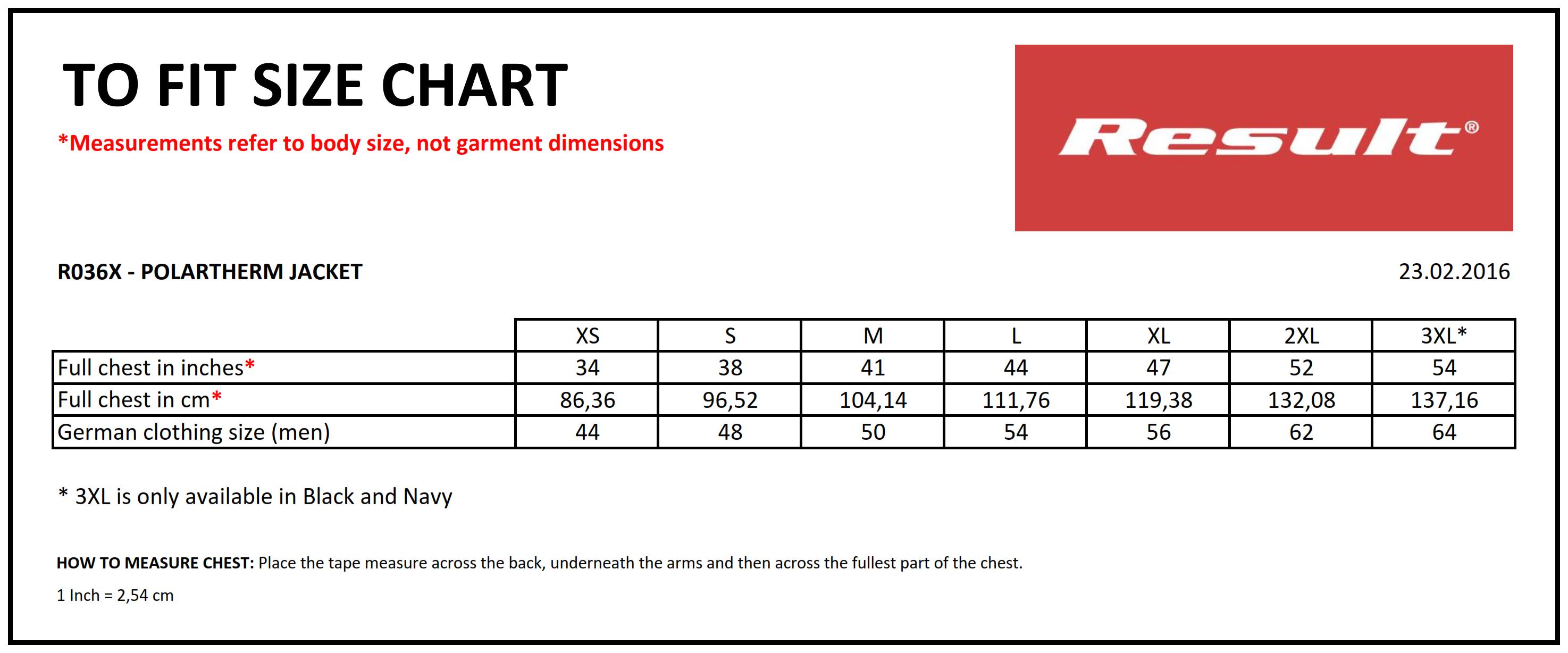 Result: Heavyweight Polartherm Jacket R036X