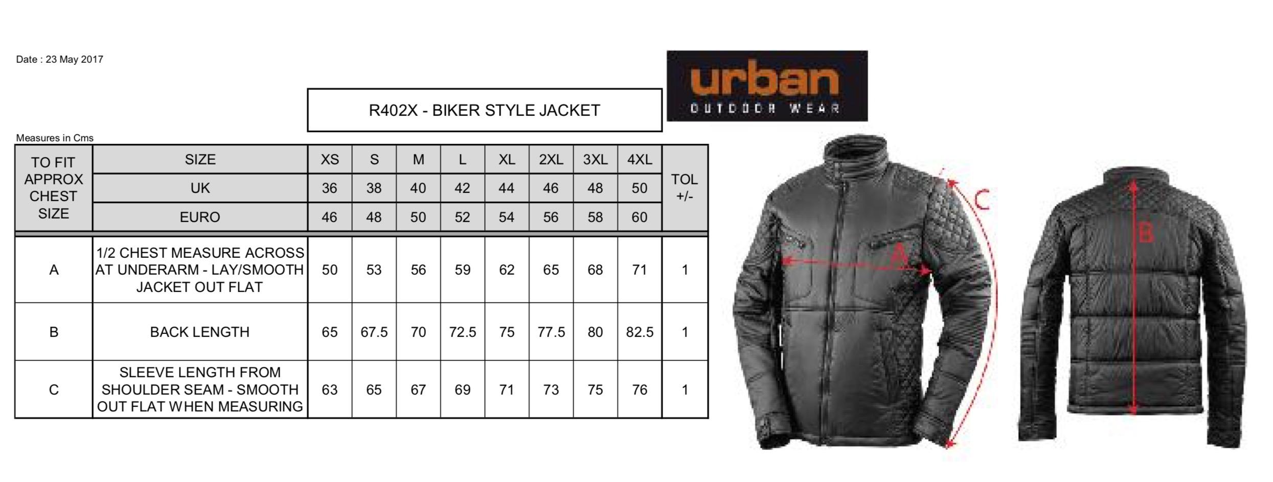 Result: Biker-Style Jacket R402X