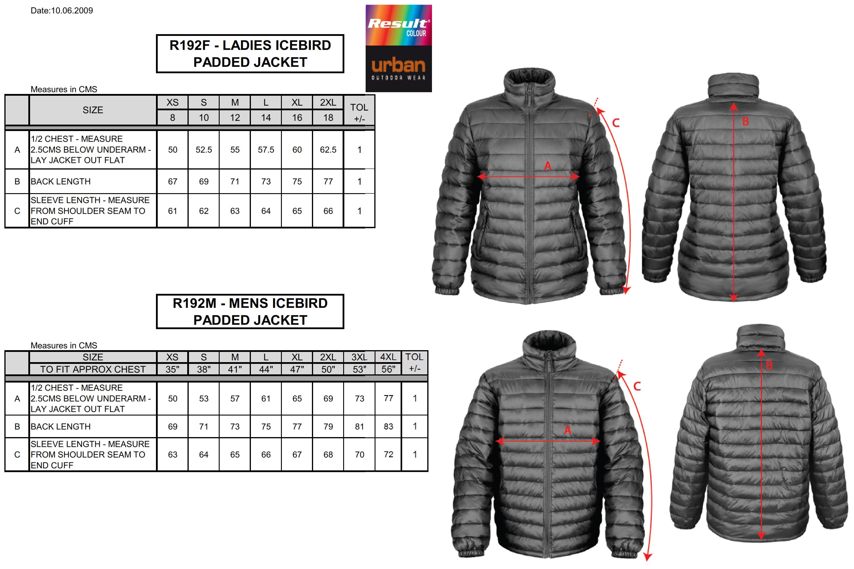 Result: Ladies` Ice Bird Padded Jacket R192F