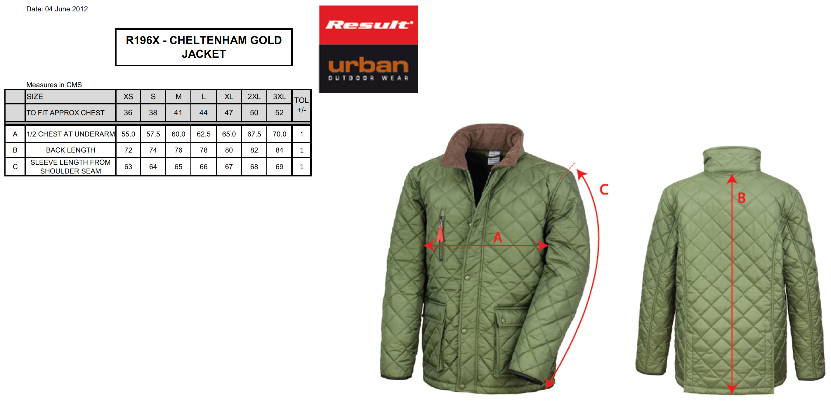 Result: Cheltenham Gold Jacket R196X