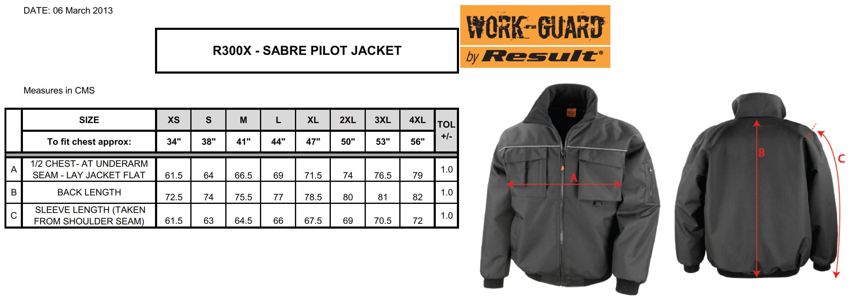 Result: Work-Guard Sabre Pilot Jacket R300X