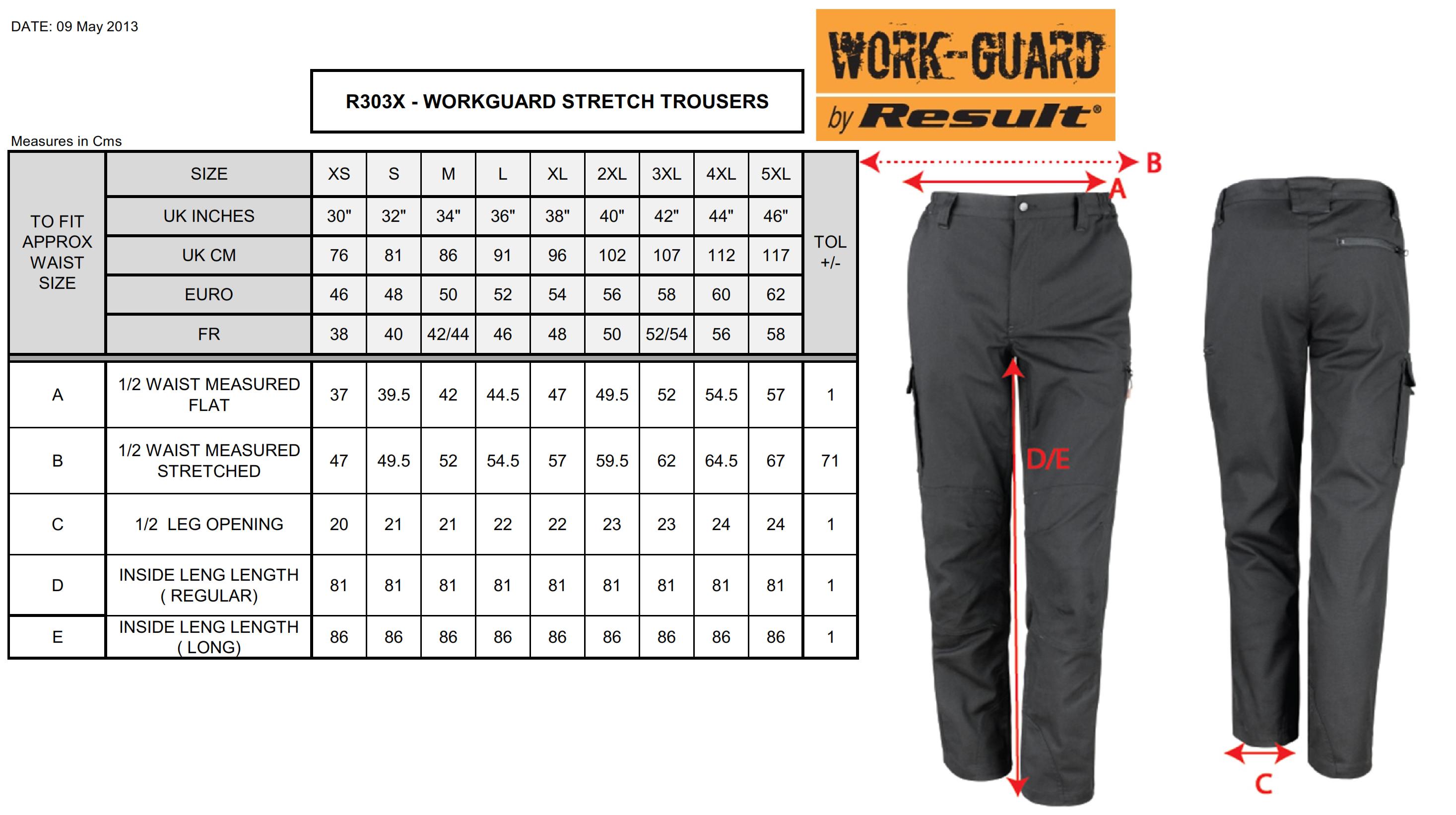 Result: Work-Guard Stretch Trousers Reg R303X (R)