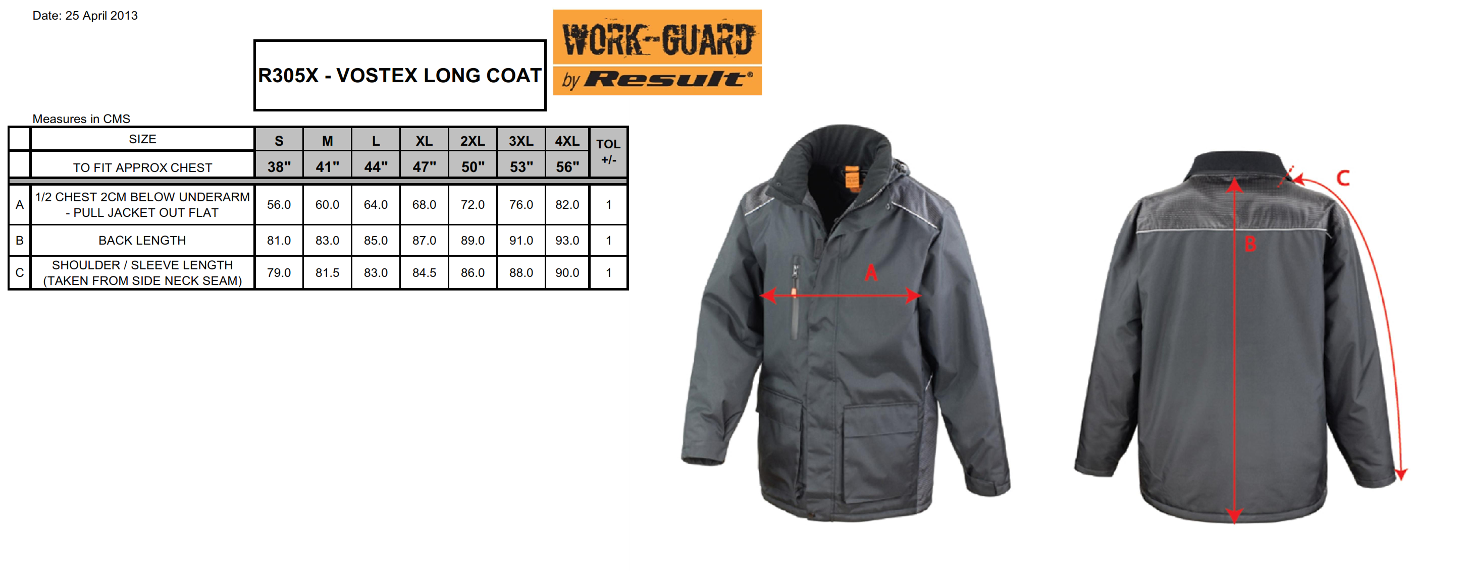 Result: Work-Guard Vostex Long Coat R305X