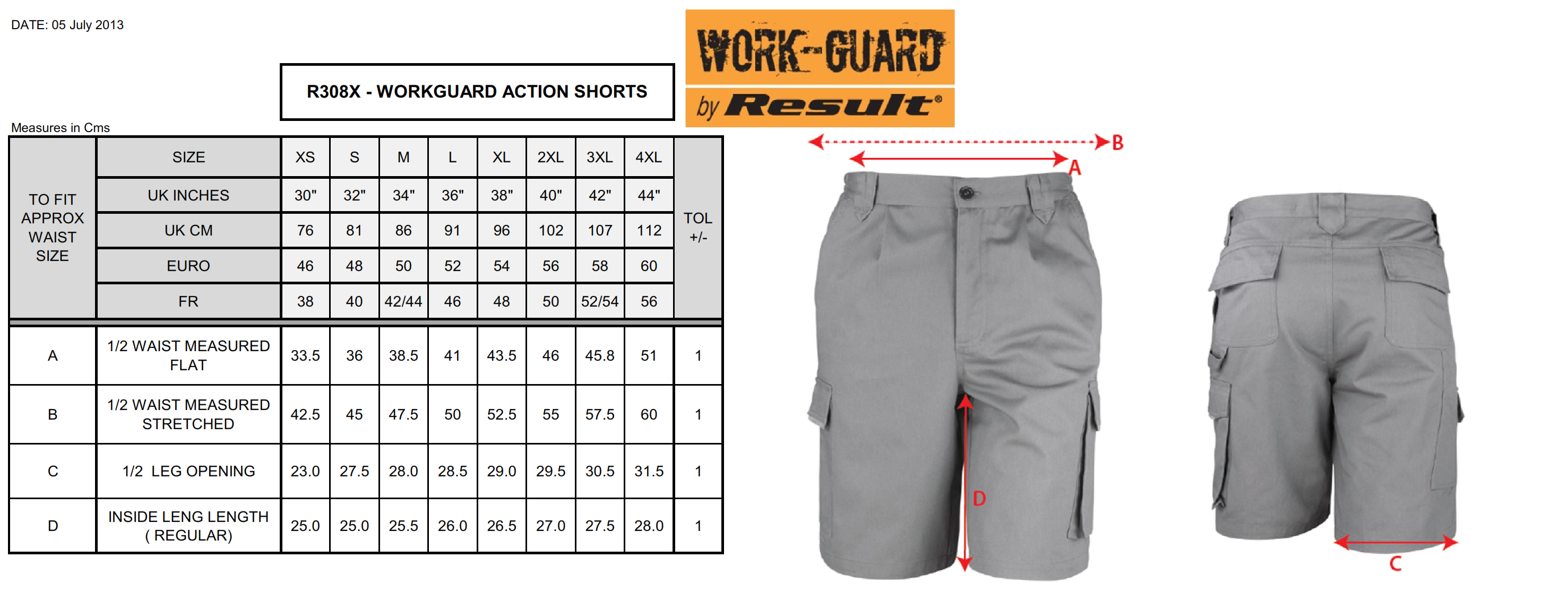 Result: Work-Guard Action Shorts R309X