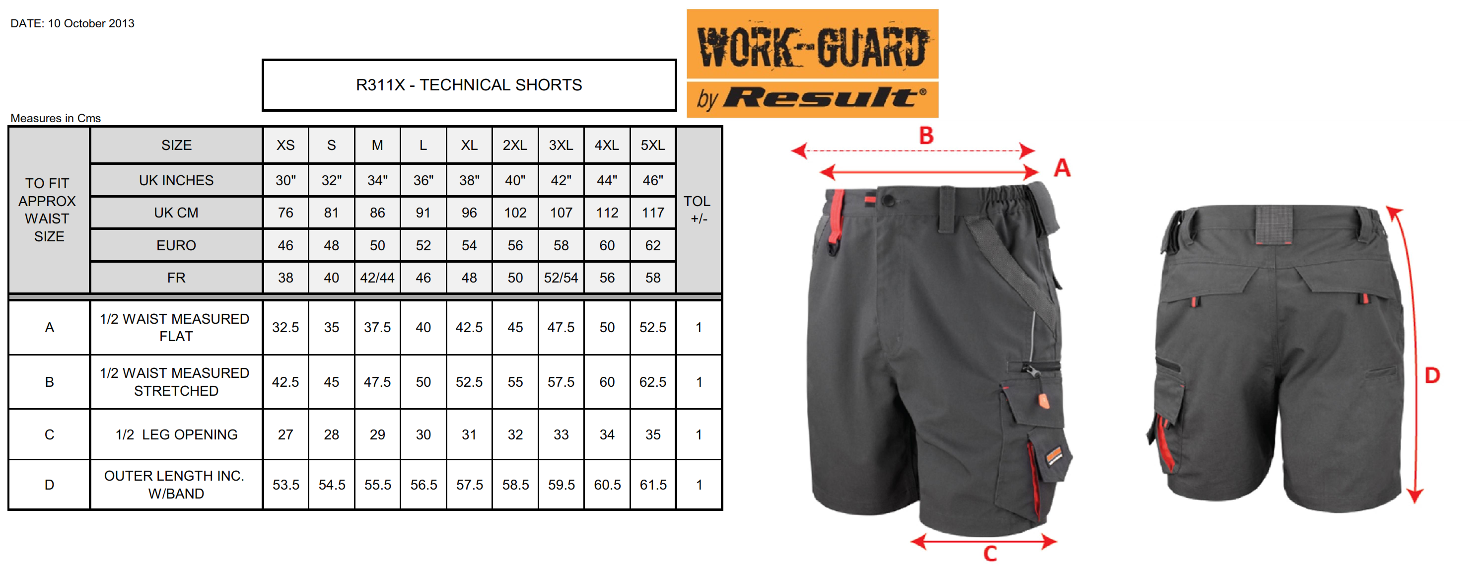Result: Work-Guard Technical Shorts R311X